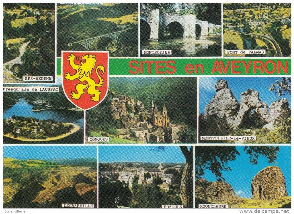 Sites En Aveyron Bez-Bedene, Montpellier Le Vieux, Montrozier, Pont De Palmas, Conques, Decazeville, Roquelaure, Bozouls - Autres Communes