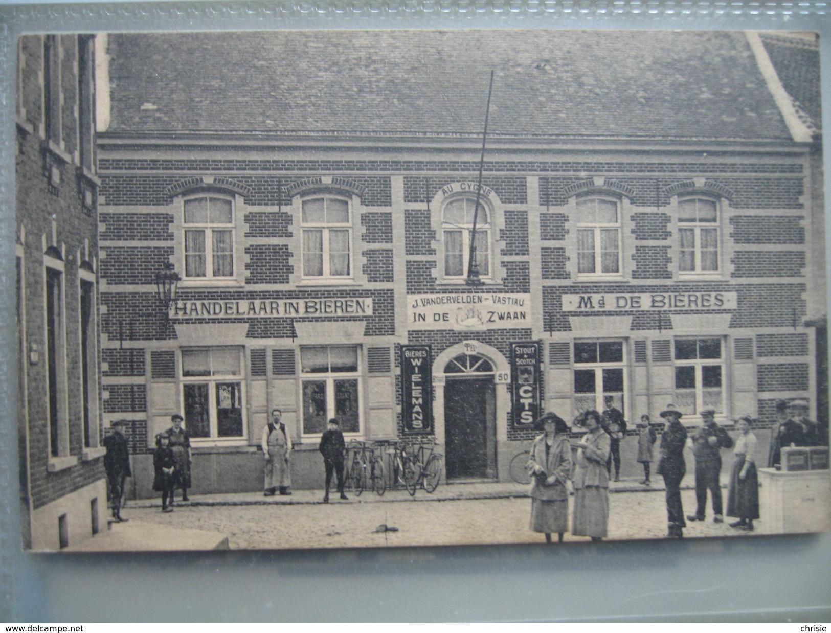 KAART ALSEMBERG CAFE DE ZWAAN GEANNIMEERD L1616 - Beersel