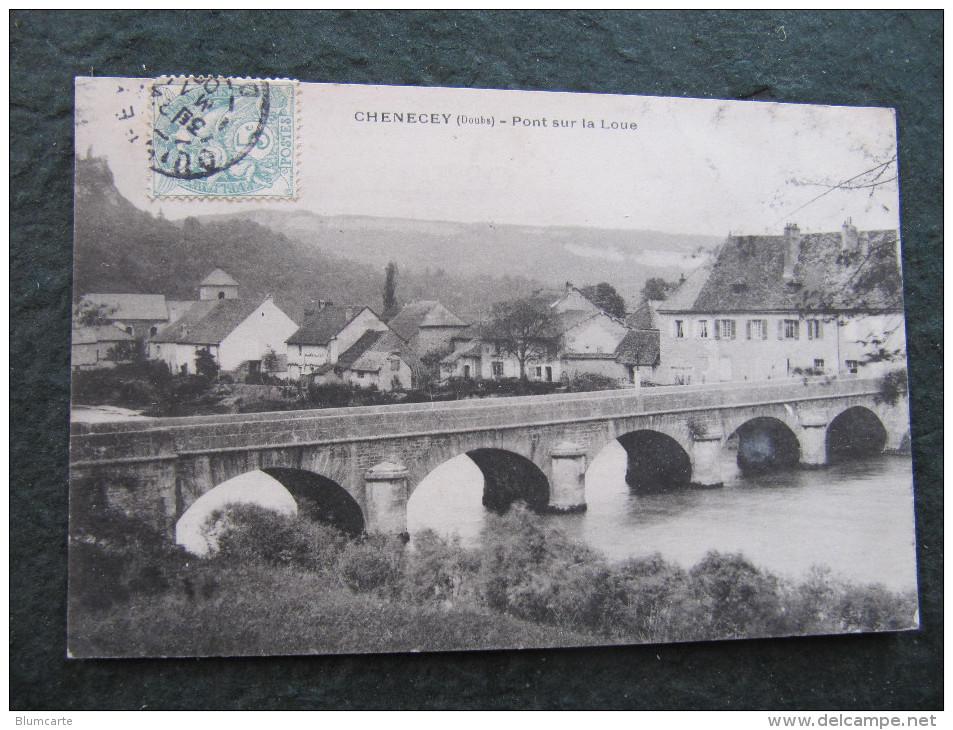 CPA - CHENECEY - PONT SUR LA LOUE - France