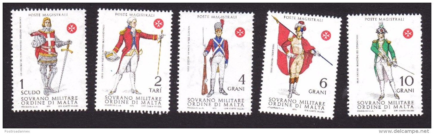 Sovereign Order Of Malta, Scott #Unlisted, Mint Never Hinged, Soldiers In Uniforms, Issued 1971 - Malta