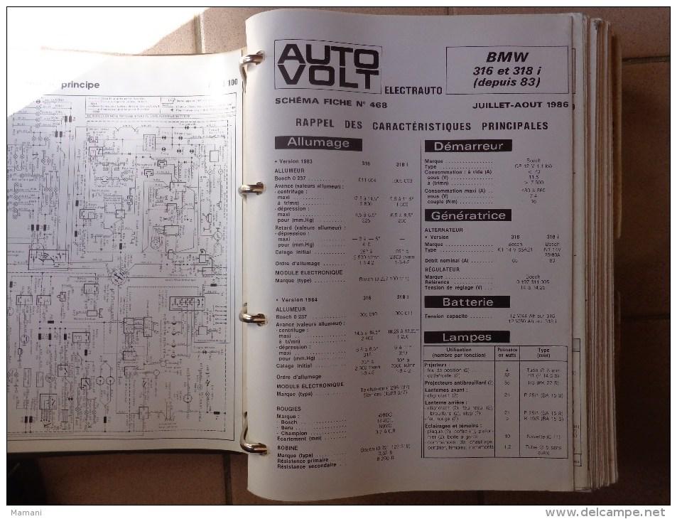 93 Schemas Et Fiches -auto-volt Electrauto - 1970 Et 1980 Voiture  Peugeot-bmw-renault-volvo Citroen Etc...pour Garage - Planches & Plans Techniques
