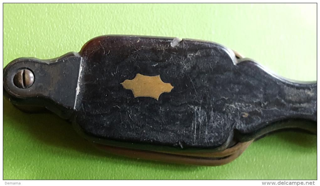Fijne Antieke Vouwbril/lorgnette, Eind 19de Eeuw-begin 20 Ste Eeuw, Schildpad Tortoise-shell - Brillen