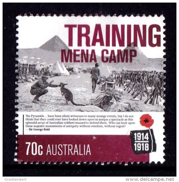 Australia 2014 World War I Centenary 70c TRAINING MENA CAMP Used - - - 2010-... Elizabeth II