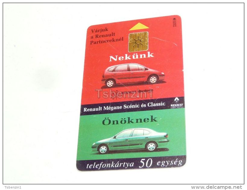REnault Megane Scenic Classic Coupe Car Auto France 1997 Phonecard Hungary - Cars