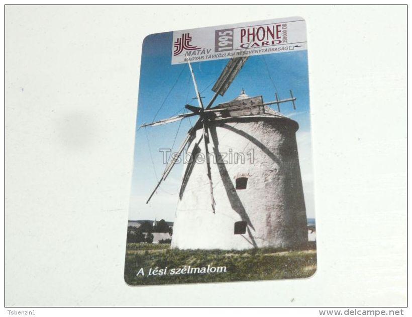 Windmill Mill Windmuhle Muhle Tés 1994 Phonecard Hungary - Phonecards