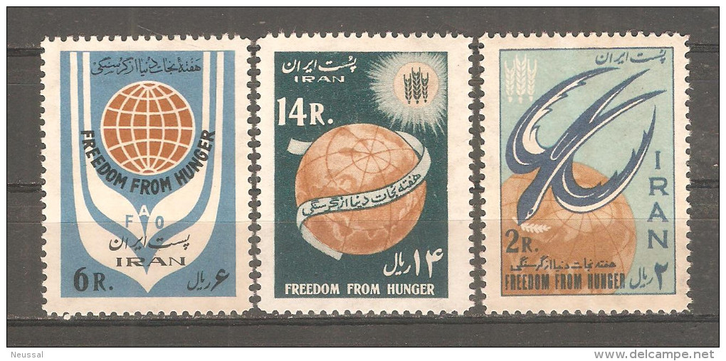 Serie  Nº 1018/1020  Iran - Irán