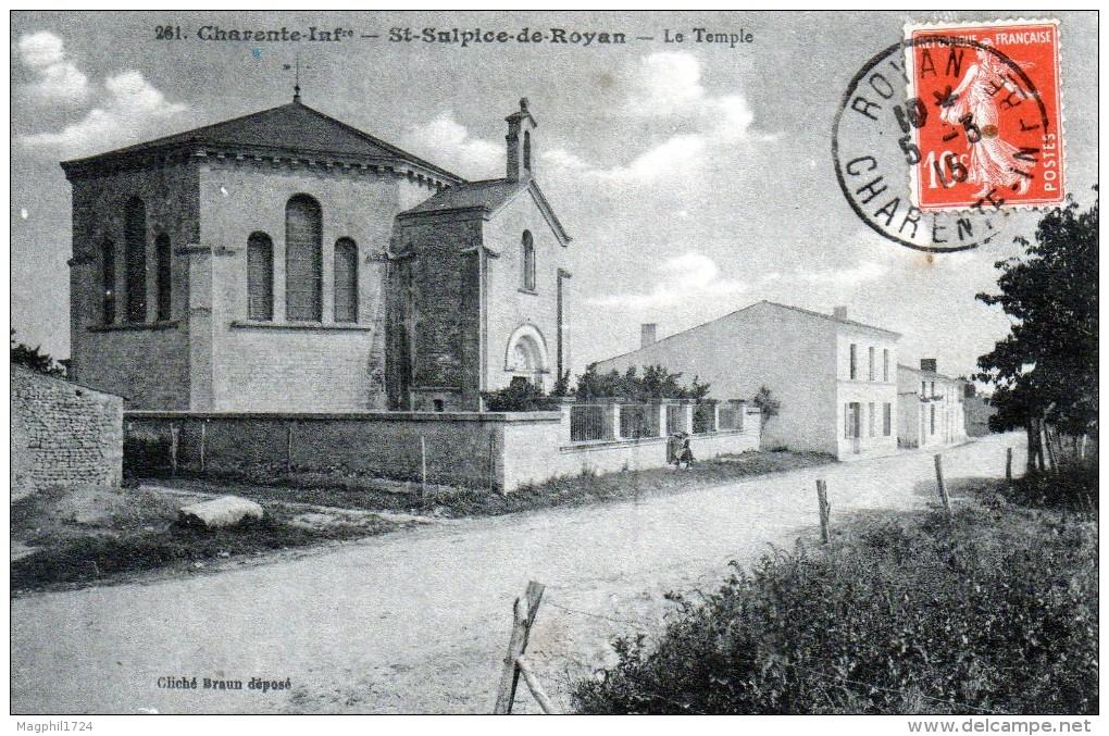 Cpa (17) St-sulpice-de-royan -- Le  Temple - Andere Gemeenten