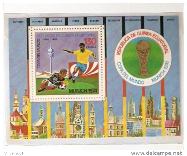 GERMANY 74 FOOTBALL WORLD CUP FIFA GUINEA ECUATORIAL - Coppa Del Mondo
