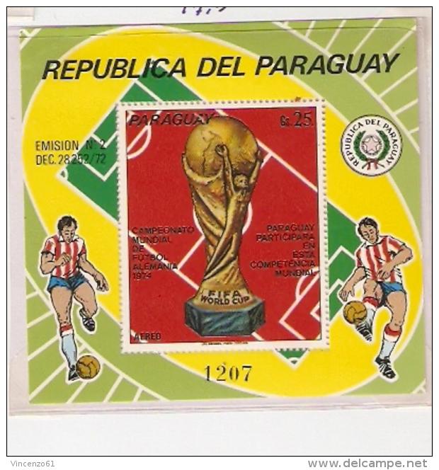 GERMANY 74 FOOTBALL WORLD CUP FIFA  PARAGUAY - Coppa Del Mondo
