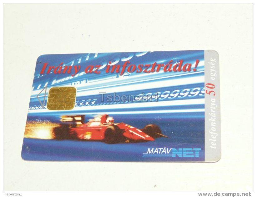 Forma 1 F1 Ferrari Auto Car 1996 Phonecard Hungary - Cars