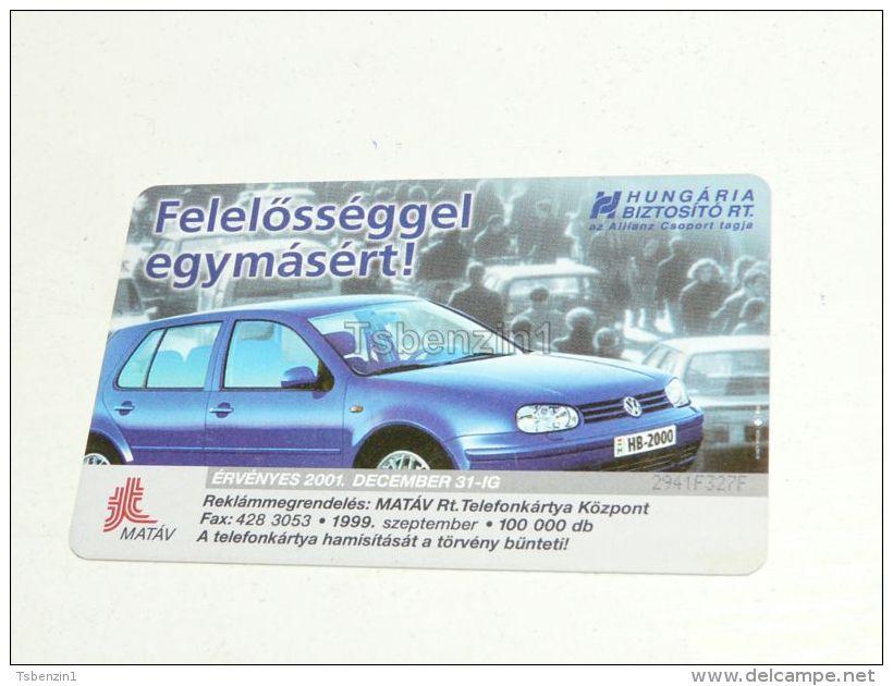 VW Golf IV 4 Auto Car 1999 Phonecard Hungary - Cars
