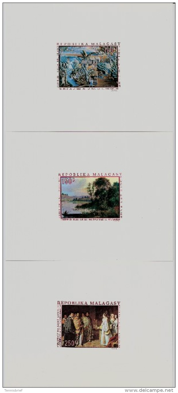 1969, 100, 150, 250 F. Gemälde,    ,  #81 - Madagaskar (1960-...)