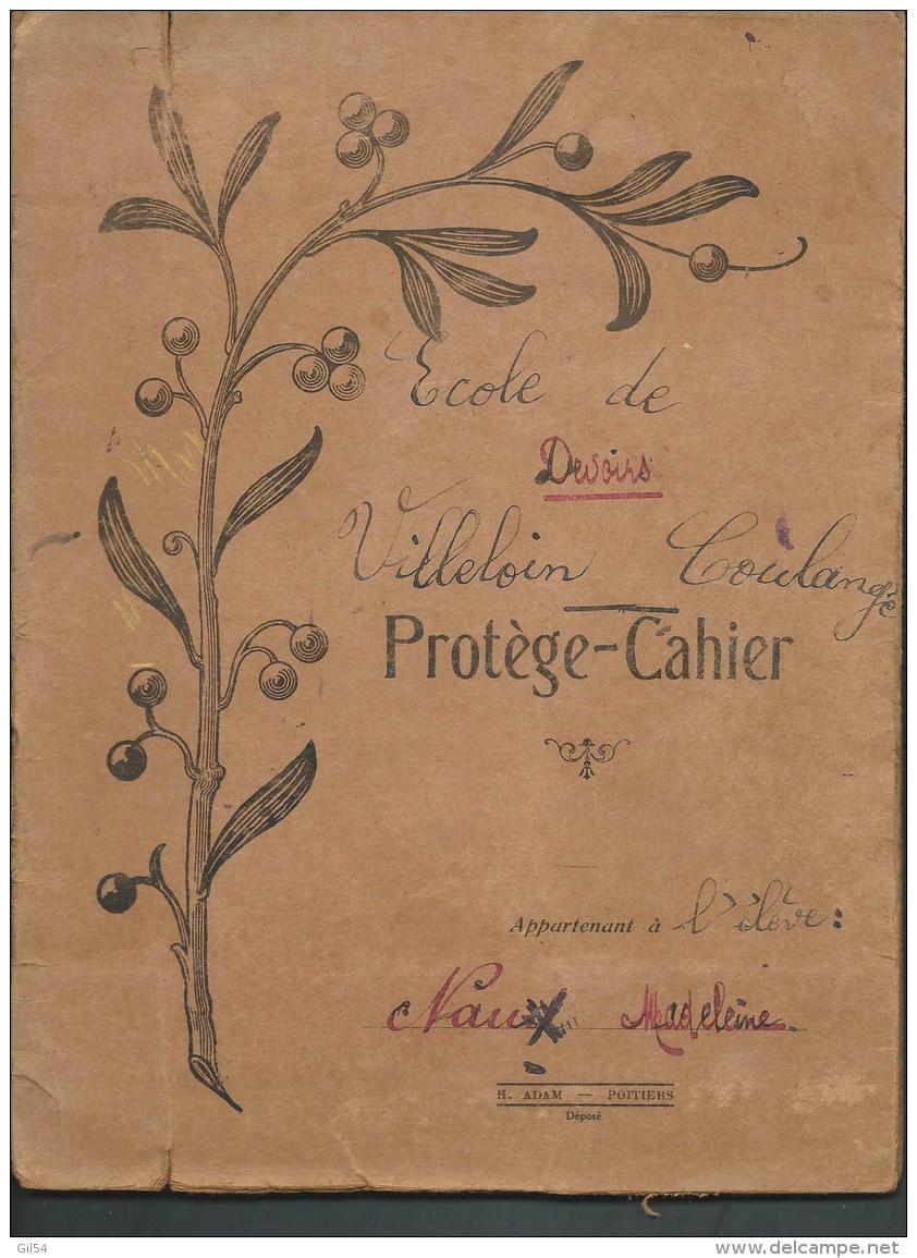 Protecahier Et Cahier De 1925 , Mesures En Fer , Bois , Etain Pods En Fonte ,cuivre , Monnaie Or, Argent -  Vifg0604 - Carte Assorbenti