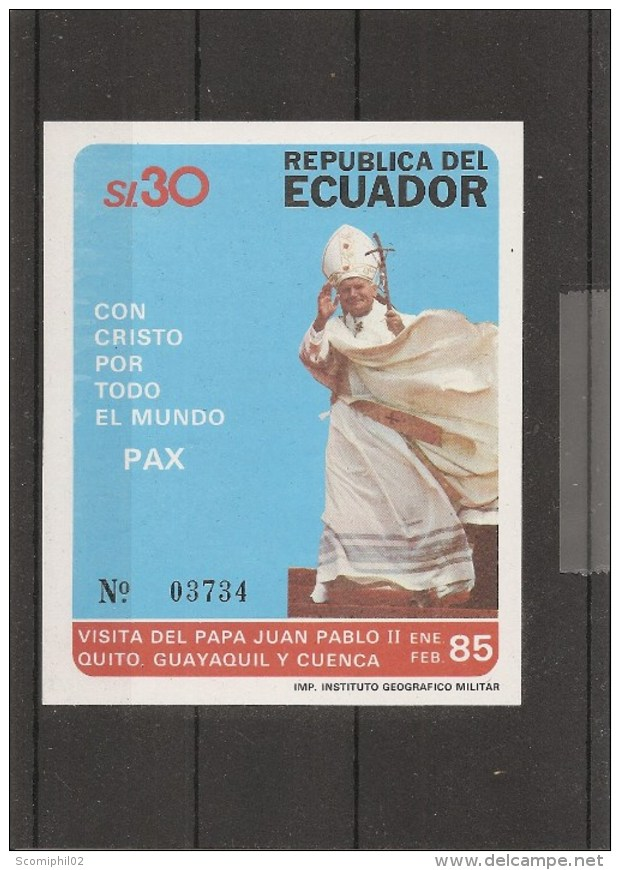 Equateur -Pape Jean-Paul II ( BF 64 XXX -MNH) - Ecuador