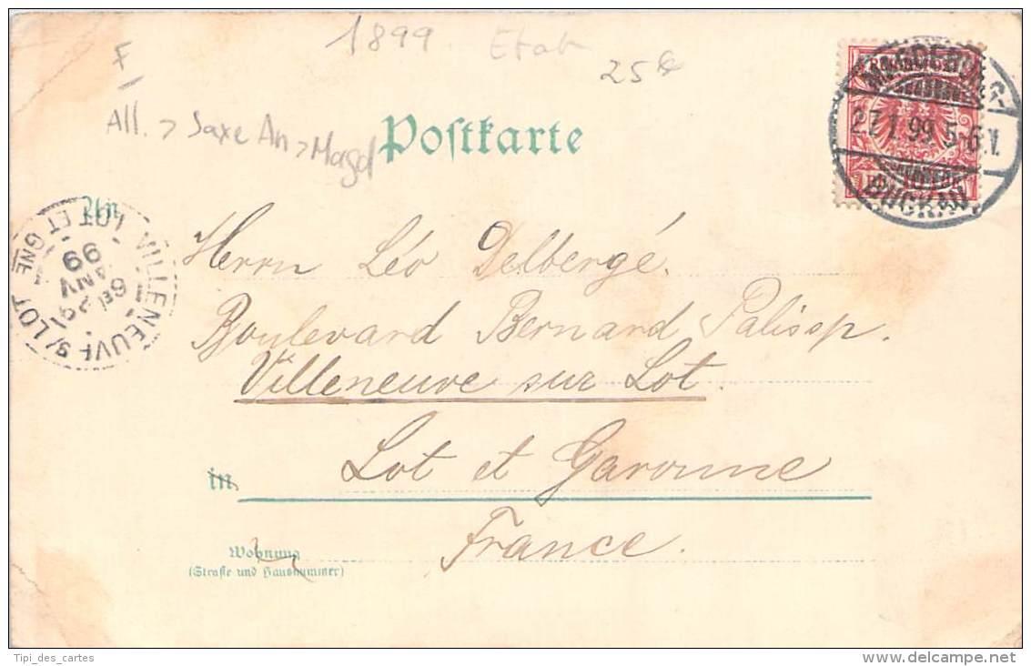 Allemagne - Gruss Aus Magdeburg 1898 - Magdeburg