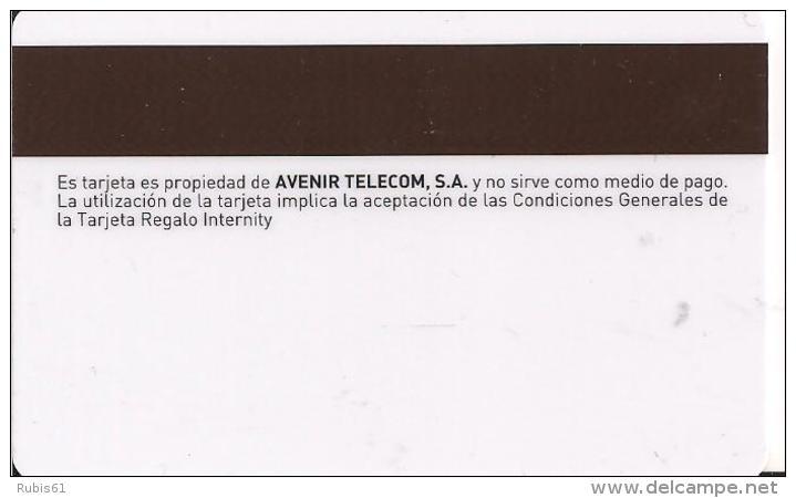 TARJETA REGALO INTERNITY FELICIDADES - Tarjetas Telefónicas