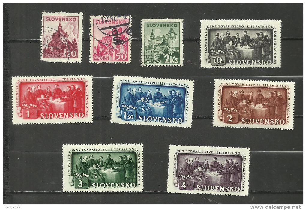 Slovaquie N°54, 55, 57, 77 à 82 Cote 3.40 Euros - Slovakia