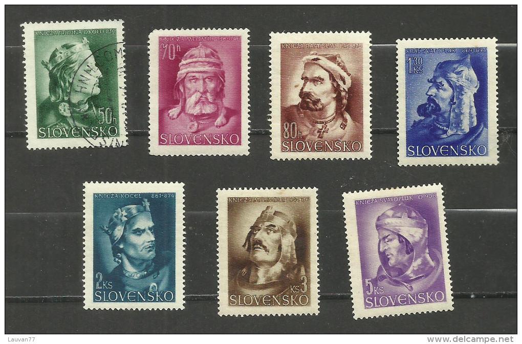 Slovaquie N°100 à 106 Neufs Avec Charnière* Cote 3 Euros - Unused Stamps