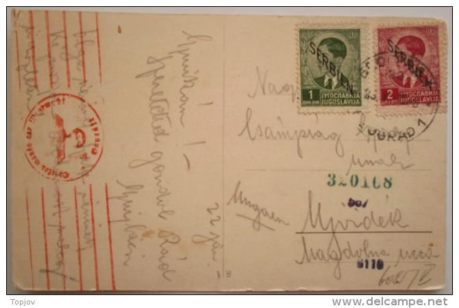 SRBIJA - SERBIA -  GERMAN OCCUPAT.  - 1 + 2 Din - 1941 - Serbia