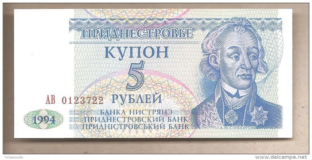 Transnistria - Banconota Non Circolata Da 5 Rubli P-17 - 1994 - Moldova