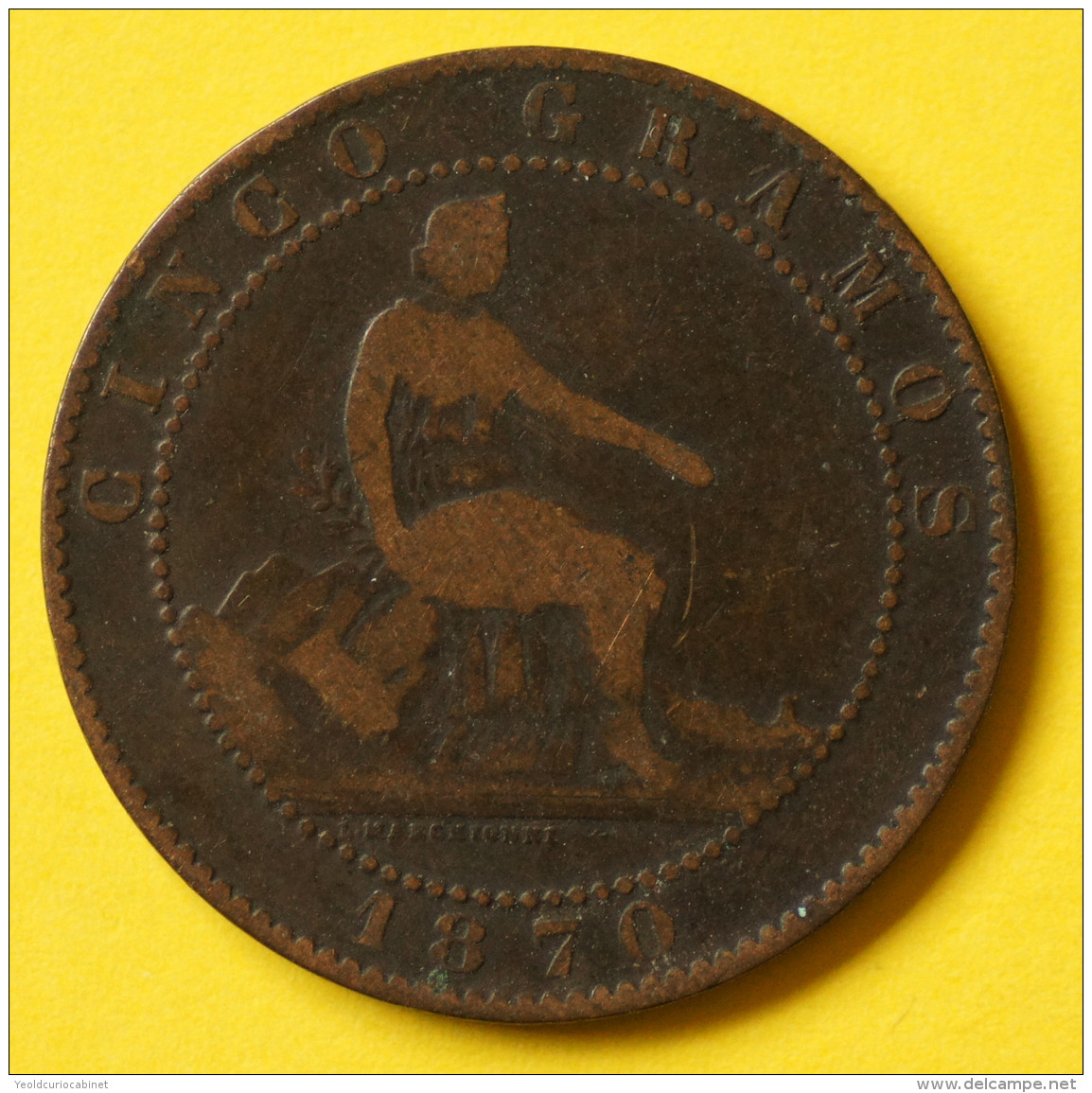 Spain - 5 Centimos - 1870 - Very Good - Other