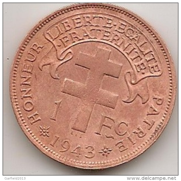 1943   1 FC MADAGASCAR - France