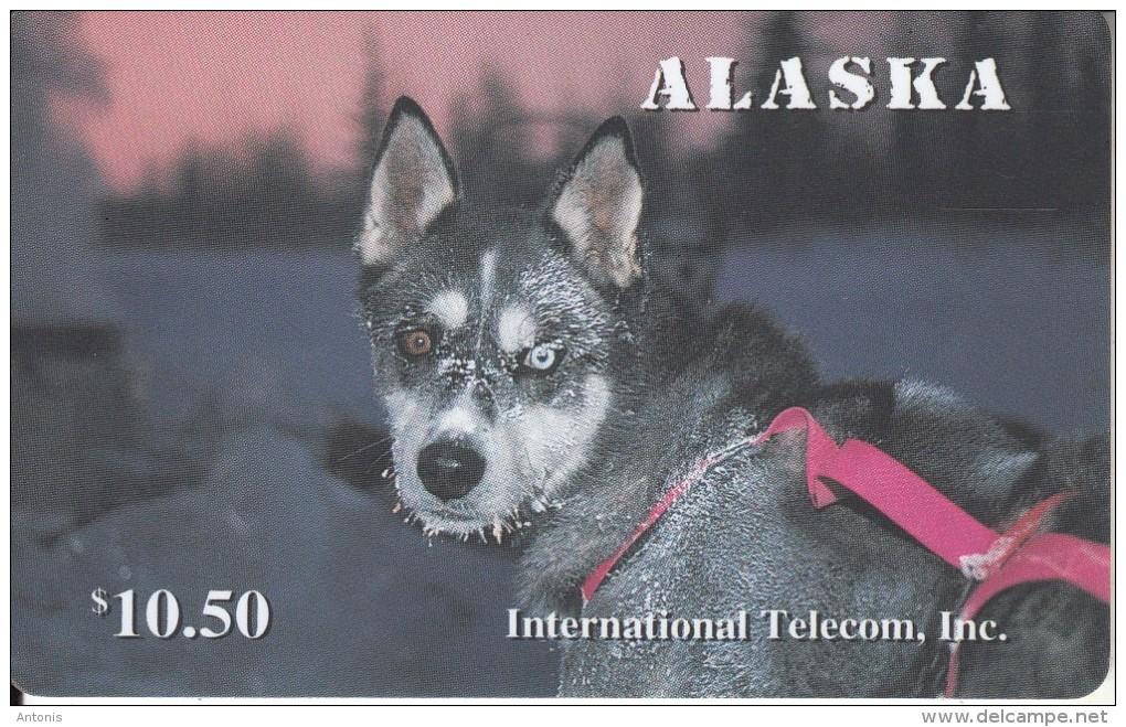 ALASKA(chip) - Alaskan Sled Dogs/Rare Eyes($10.50), Tirage 1500, 12/95, Mint - Altri – America