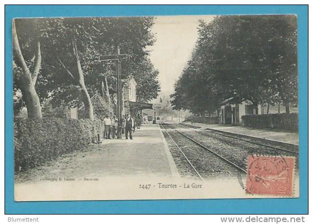 CPA 2447 - Chemin De Fer La Gare TOURVES 83 - France