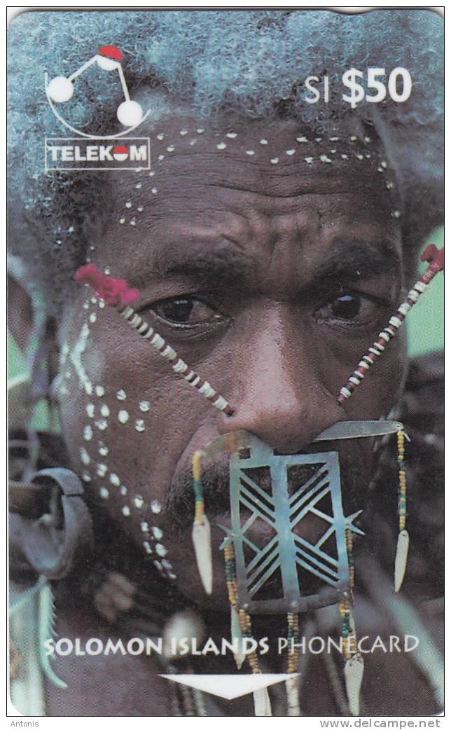 SOLOMON ISL.(GPT) - Man From Santa Cruz, CN : 02SIE/B, Used - Isole Salomon