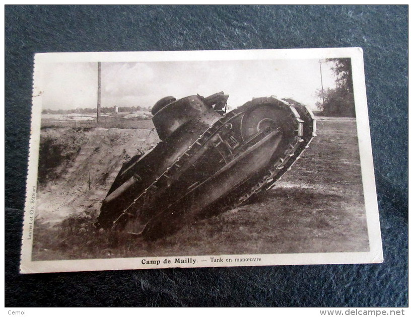 CPA - Camp De Mailly - Tank En Manoeuvre - Material