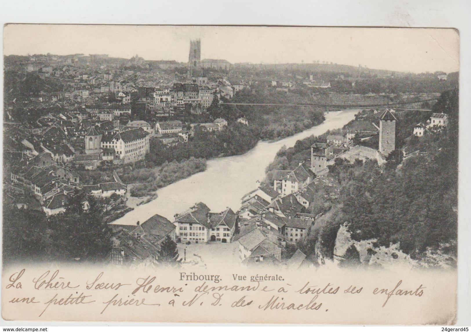 CPA PIONNIERE FRIBOURG (Suisse-Fribourg) - Vue Générale - FR Fribourg