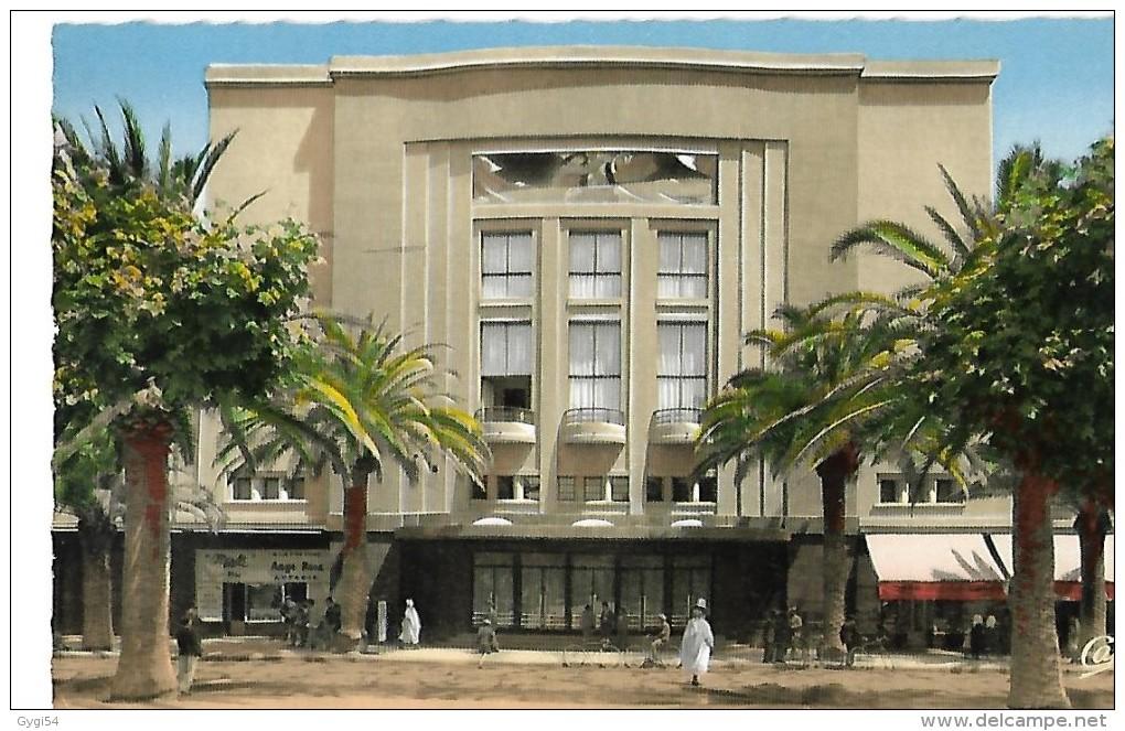 Algérie Sidi Bel Abbes   Cafés  Le Théatre  CPSM 1957 - Sidi-bel-Abbes