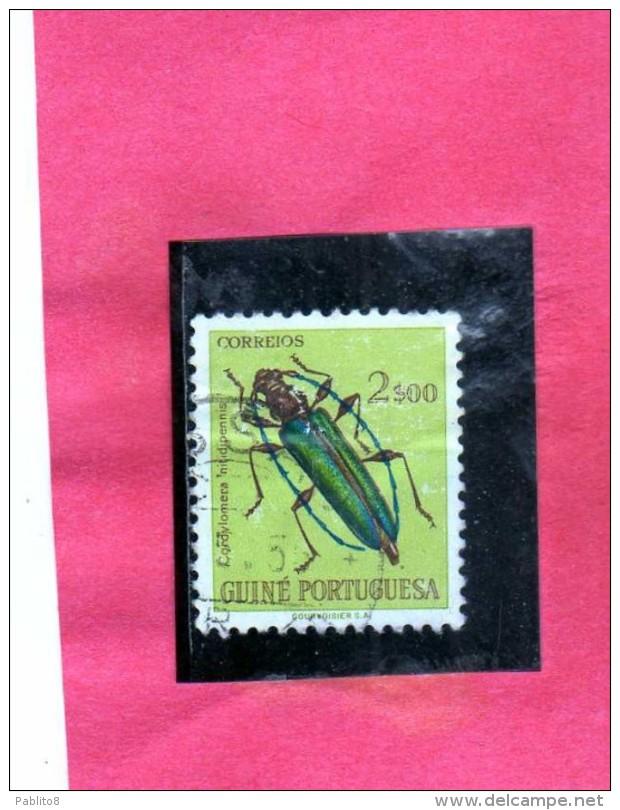 GUINEA PORTUGUESE  PORTOGHESE GUINE PORTUGUESA 1953 FAUNA INSECTS INSETTI  E ...
