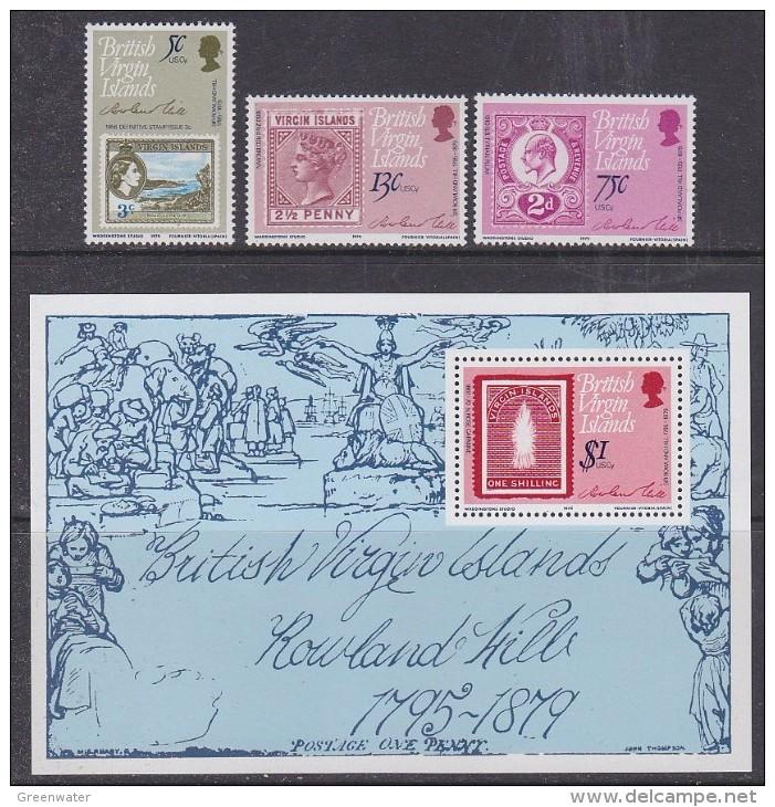 British Virgin Islands 1979 Sir Rowland Hill 3v + M/s ** Mnh (29961) - Britse Maagdeneilanden