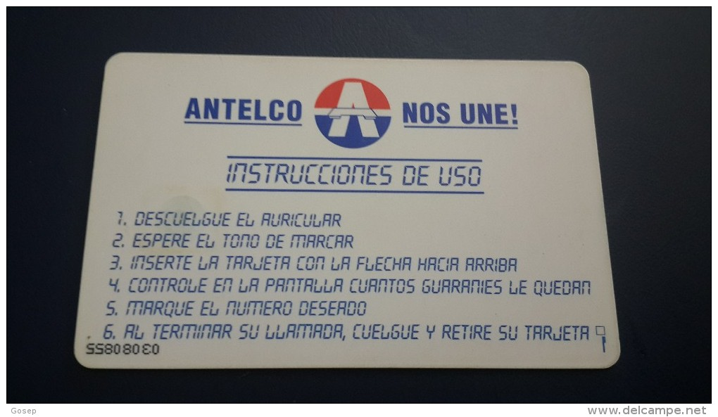 Paraguay-(par-a-06)-logo-30 Impulsosat Units-second Chip-there Are A Number Of Left Side Down In Reverse - Paraguay