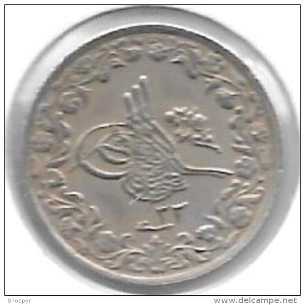 *egypte 2/10 Girsh Ah 1293/33 = 1907   Km 290  Xf - Egypte