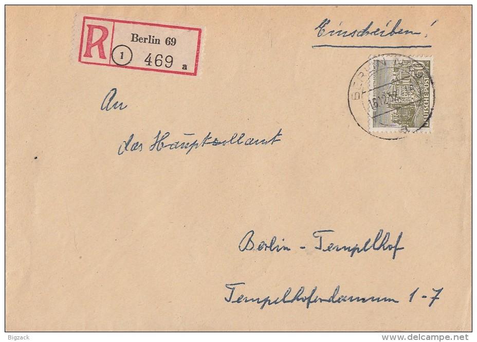 Berlin Orts-R-Brief EF Minr.53 Berlin 16.12.52 - Berlin (West)