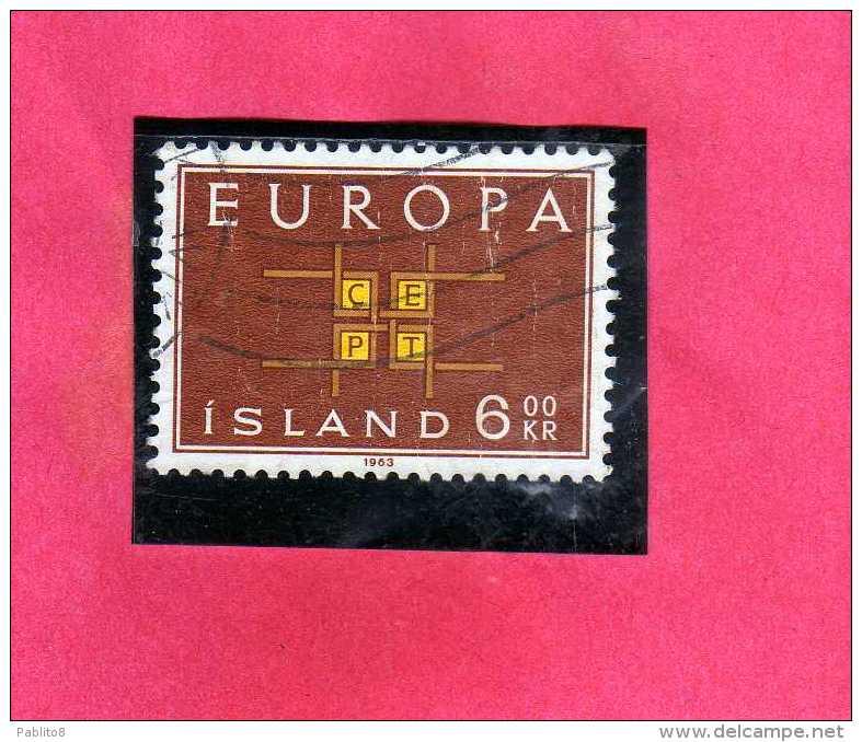ISLANDA ICELAND ISLANDE 1959 EUROPA CEPT UNITA Kr 6 6k USATO USED OBLITERE´ - 1944-... Repubblica