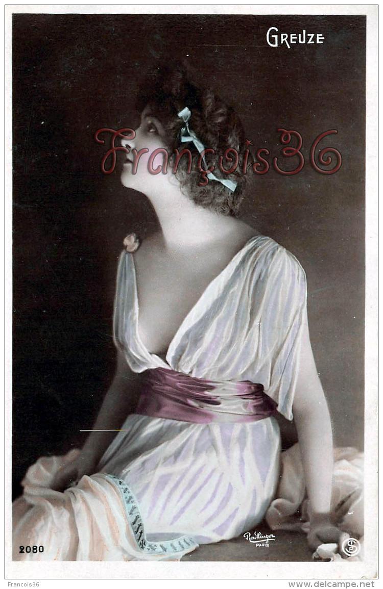CPA Jolie Fille / Frau / Lady - Jeune Femme Artiste GREUZE Reutlinger  Théatre Paris Erotica érotique - Artistes