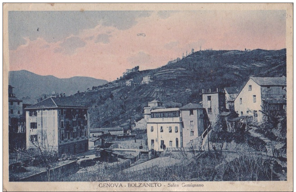 CARTOLINA DI GENOVA - BOLZANETO - SALITA GEMIGNANO - Genova