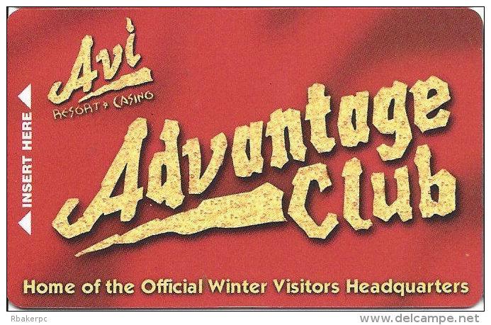 AVI Resort & Casino Laughlin, NV - 8th Issue Slot Card - No Text Over Mag Stripe (BLANK) - Casino Cards
