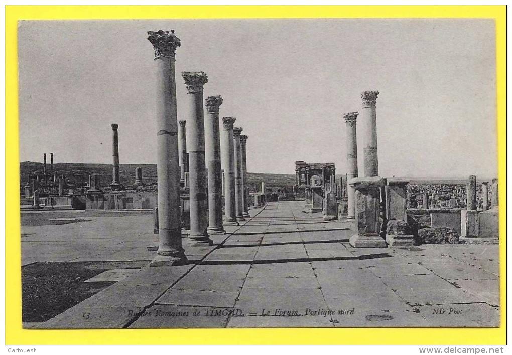 Algérie (Batna) TIMGAD - Ruines Romaines Le Forum Portique NORD  TOP - Batna