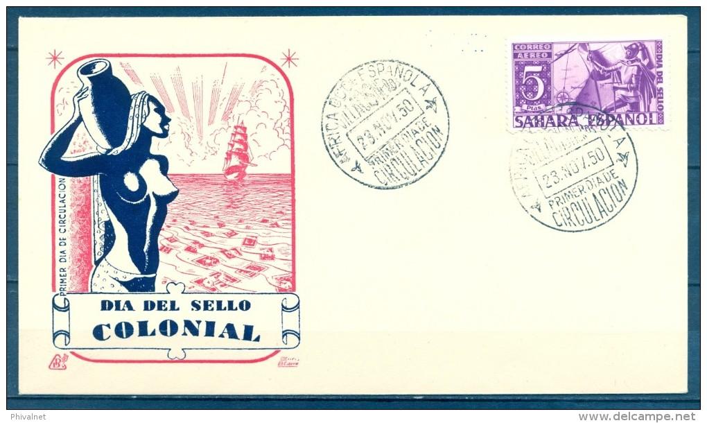 SAHARA , ED. 86 , SOBRE DE PRIMER DIA DE CIRCULACIÓN , DIA DEL SELLO COLONIAL - Sahara Español