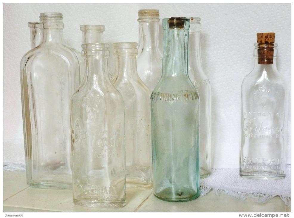 LOT 6 PETITES BOUTEILLES 12-15 Cm PHARMACIE QUINTONINE HELIN TROUETTE PERRET VIN FRILEUSESE - Other Bottles