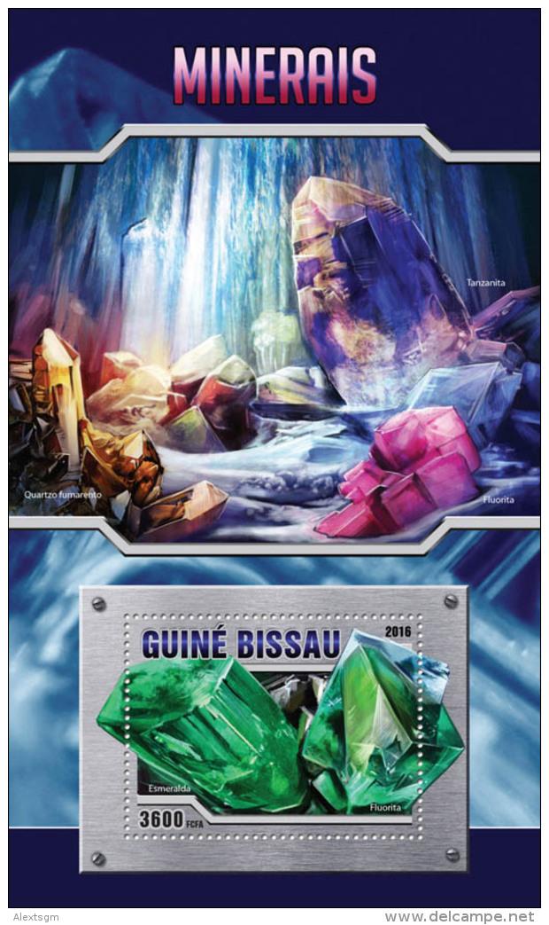 GUINEA BISSAU 2016 - Minerals S/S. Official Issue - Mineralen