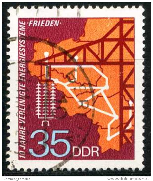 DDR - Michel 1871 - OO Gestempelt (A) - 35Pf   Energiesysteme - [6] République Démocratique