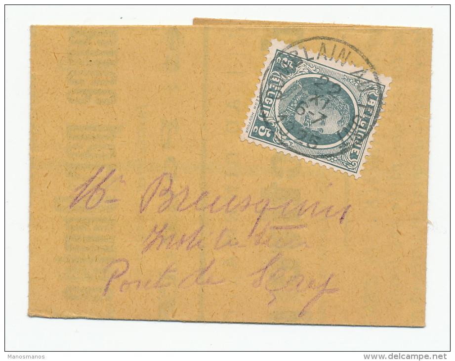 502/24 - Mini IMPRIME TP Houyoux 5 C COMBLAIN AU PONT 1925 -Invitation Maison Du Peuple - Conférence Par Denise Leburton - 1922-1927 Houyoux