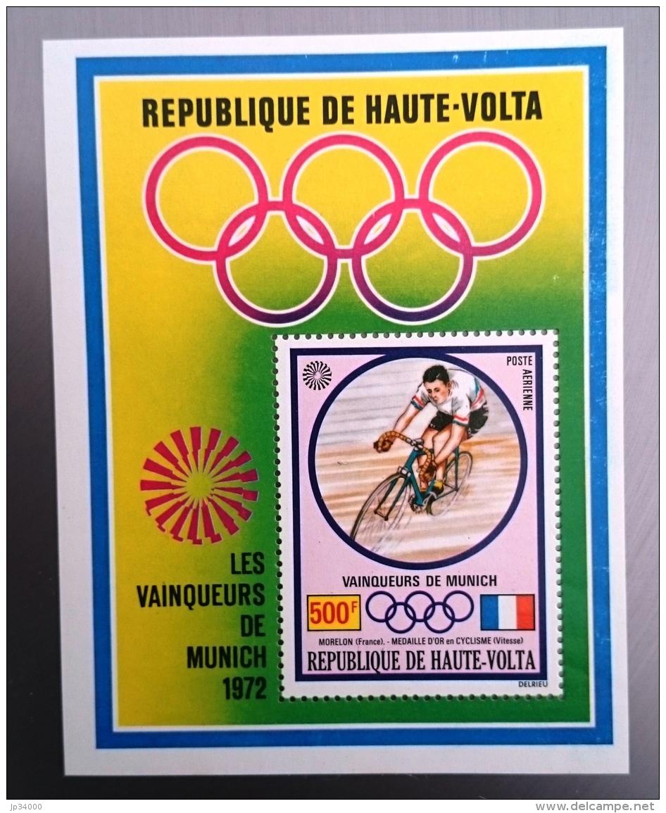 HAUTE VOLTA Cyclisme, Velo, Bicyclette. , J.O. MUNICH, Yvert BF 5A. Dentelé. PERFORATE ** MNH - Wielrennen