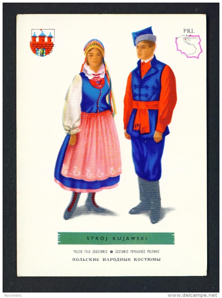 POLAND  -  Regional Costumes  Stroj Kujawski  Unused Postcard - Costumes