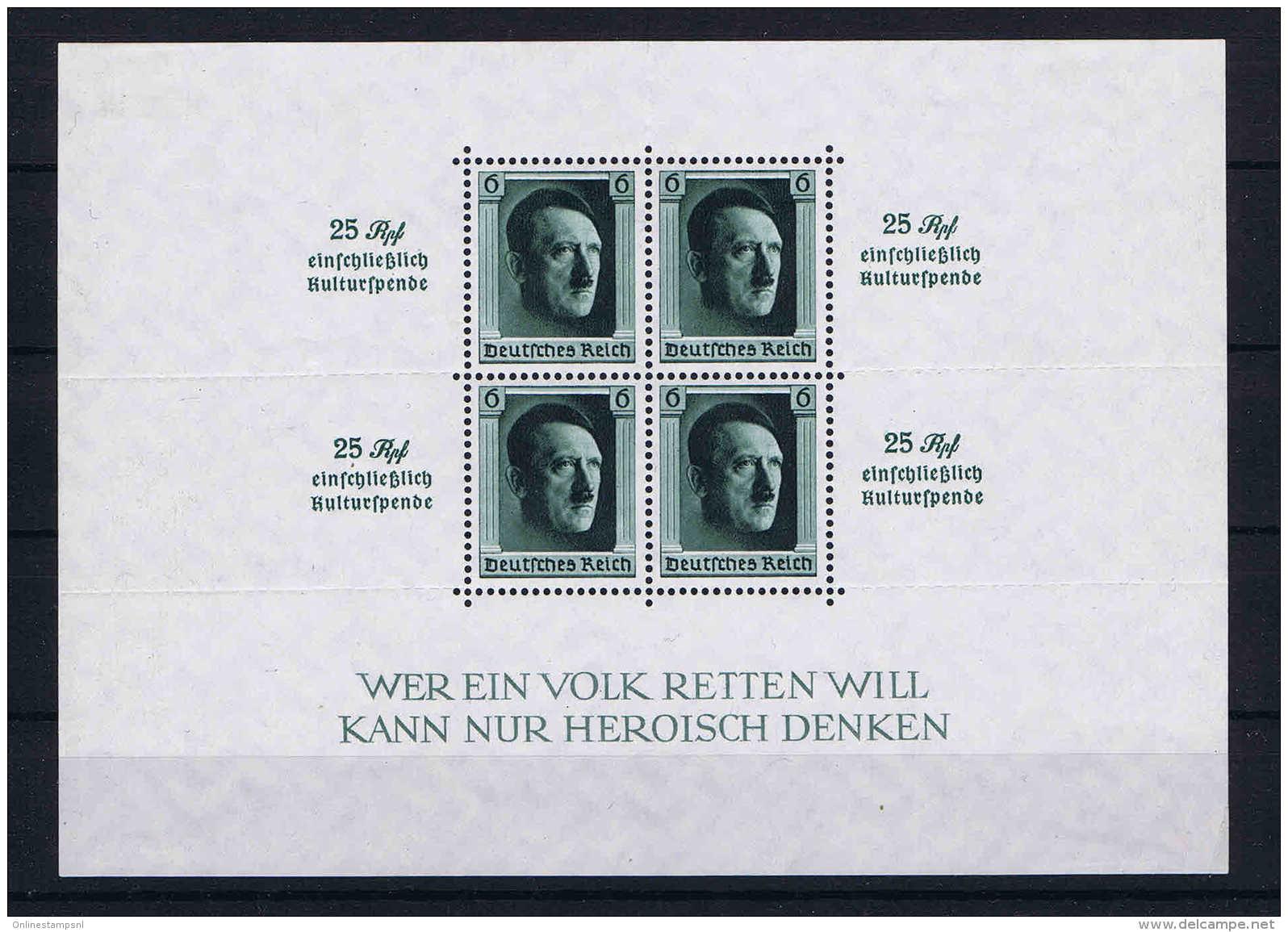Deutsche Reich Mi Block 9 MH/* Falz  Stamps Are MNH/** - Deutschland